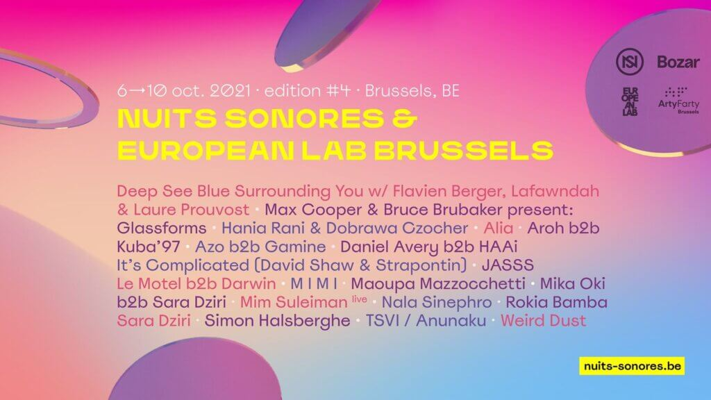 Nuits sonores & European Lab Brussels 2021