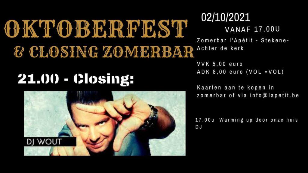 Oktoberfest & Closing Zomerbar